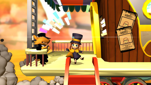 Hat Kid jumps on board The Science Express